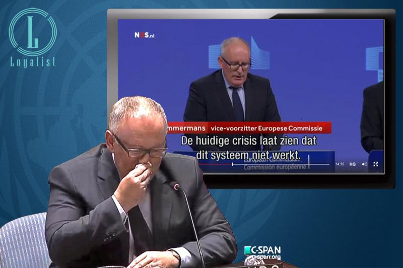 Frans Timmermans knaag verder aan de soevereiniteit