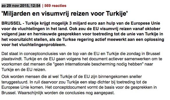 Visumvrij reizen voor Turkije