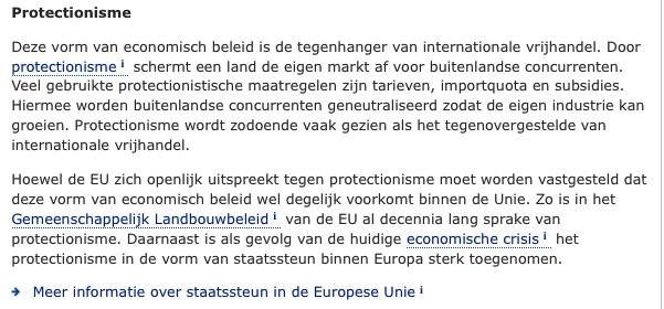 Protectionisme van de EU